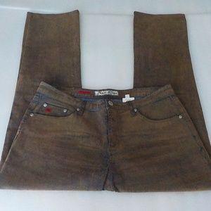 Paris Blues Brown/Blue Straight Leg Jeans NWOT